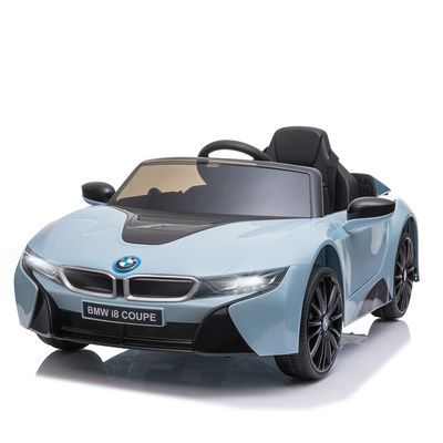 Aosom Licensed BMW I8 Coupe Electric Kids Ride-On Car 6V Battery Powered Toy with Remote Control Music Horn Lights MP3 Suspension Wheels for 37-96 months old Blue