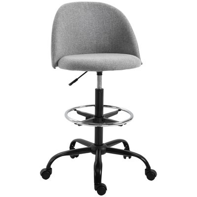 Vinsetto Ergonomic Drafting Chair Swivel Chair with Wheels Adjustable Height