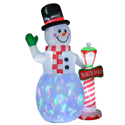 HOMCOM 7.9 feet Christmas Inflatable Snowman Decoration Airblown Lighted for Home Indoor Outdoor Garden Lawn Decoration Party Prop