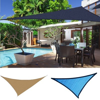 Outsunny Triangle 12' Canopy Sun Sail Shade Garden Cover UV Protector Outdoor Patio Lawn Shelter with Carrying Bag