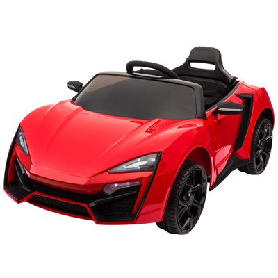 Aosom Ride On Car for Kids  6V Electric Ride-On Car with Parental Remote Control, 2 Speeds, LCD power indicator, Seat Belt (Red)