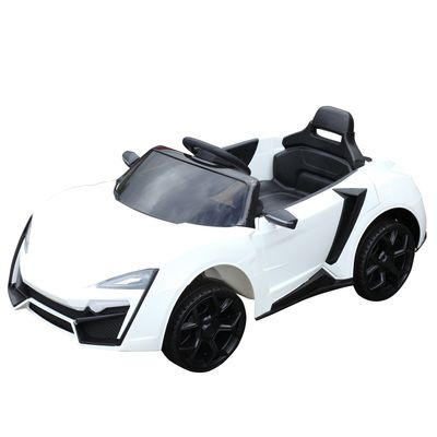 Aosom Ride On Car for Kids  6V with Remote Control 2 Speeds White
