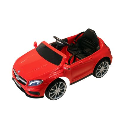 Qaba 6V Mercedes Kids Car Licensed Benz Ride On Car For 3 Years Old Kids Red