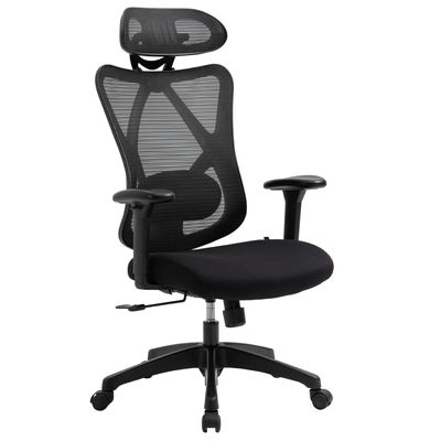 Vinsetto Mesh Office Chair High Back Swivel Task Chair with Lumbar Back Support, Rotate Headrest, Adjustable Height and Armrest, Ergonomic Recliner