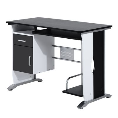 HOMCOM Computer Desk PC Table Office Furniture w/ Tray CPU Stand