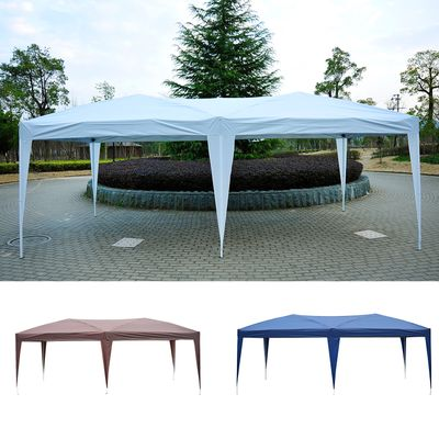 Outsunny 10'x20' Foldable Pop Up Party Tent Outdoor Patio Gazebo Canopy Wedding Market Tent without Walls, Oxford Canopy