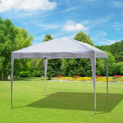 Outsunny 10x10ft Easy Pop Up Canopy Party Wedding Tent Outdoor Patio Shelter White