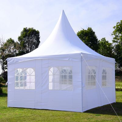 Outsunny 13x13ft Pagoda Party Tent with Removable Sidewalls Patio Wedding Canopy White