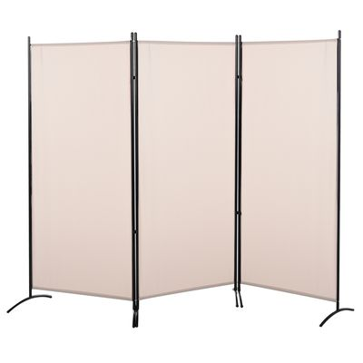 "HOMCOM 3-Panel Folding Screen Room Divider Privacy Separator Partition for Indoor Bedroom Office  Outdoor Patio 100""x72"" Beige"