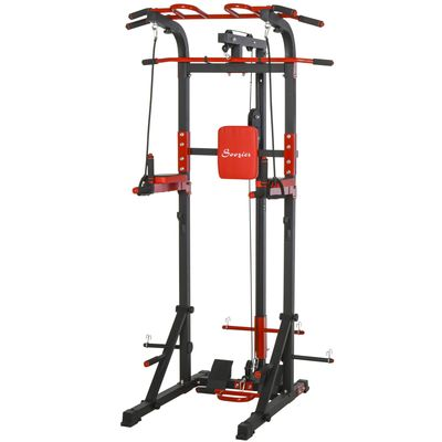 Soozier Pull Up Bar Station Power Tower for Home Gym Traning Workout Equipment