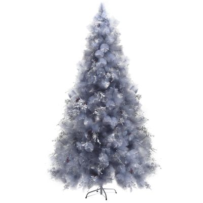HOMCOM 7FT Christmas Tree Artificial Classic Tree Holiday Indoor Decoration, with Mental Support 499 Tips, Green
