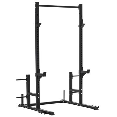 Soozier HOMCOM Heavy Duty Multi-Function Power Tower Exercise Workout Station Strength Training w/ Stand Rod for Home Gym