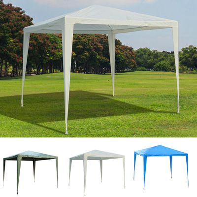Outsunny 9x9ft Party Tent Outdoor Gazebo Canopy Portable Folding Sunshade