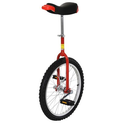 """Soozier 20"""" Inch Wheel Unicycle Cycling Outdoor Sports Fitness Exercise Pedal Balance Car with Parking Rack"""