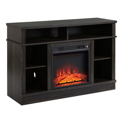 """HOMCOM Electric Fireplace TV Stand for TV's up to 47"""" Flat Screen, Living Room Storage Cabinet, Entertainment Center with Adjustable Shelves, Cable Management, Espresso"""