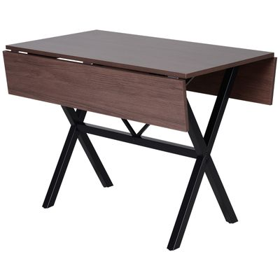 HOMCOM Drop Leaf Folding  Computer End Side Desk or for 6-person Dining Table Use