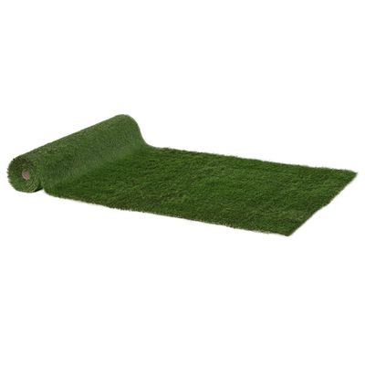 Outsunny 13.1' x 3.3' Artificial Grass Carpet Garden Synthetic Turf Outdoor Fake Grass Mat Lawn with 35mm Pile Height Drain Holes