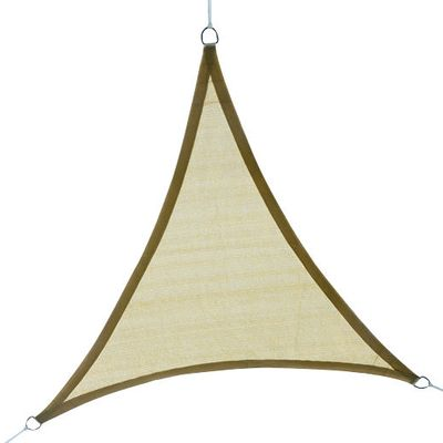 Outsunny Triangle 12' Canopy Sun Sail Shade Garden Cover UV Protector Outdoor Patio Lawn Shelter with Carrying Bag (Sand)