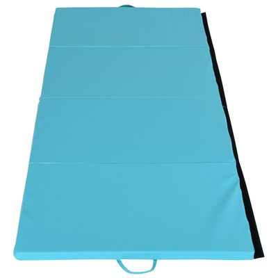 "Soozier Folding GYM Exercise Mat with Handles for Yoga  Fitness Core Workouts 45.25""L x 113.5""W x 2""T"