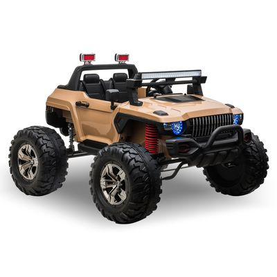 Aosom Ride On Car Off Road Truck SUV 12 V Electric Battery Powered with Remote Control and MP3, Adjustable Speed, Yellow