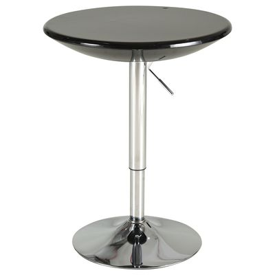 HOMCOM Round Cocktail Bar Table Metal Base Tall Bistro Pub Desk Adjust Counter Height
