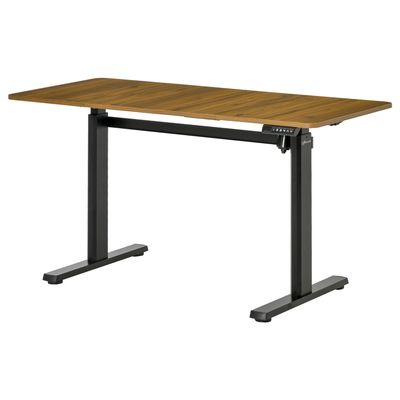 Vinsetto Electric Height Adjustable Standing Desk Sit Stand Desk with Large Desktop, Motor, Stand up Desk for Home Office, Natural