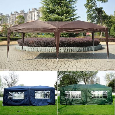 Outsunny 10x20ft Pop up Canopy Folding Portable Outdoor with 6 Sidewalls