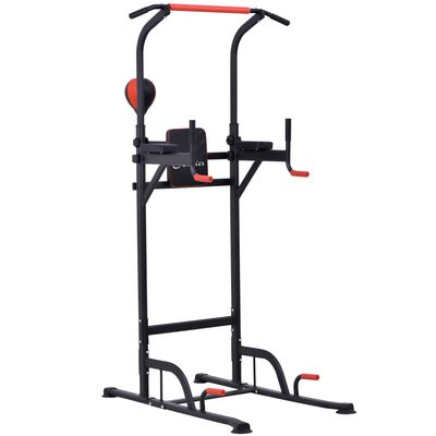 Soozier Power Tower Station Pull Up Bar for Home Office Gym Workout Equipment