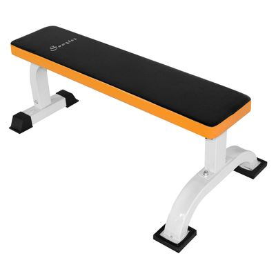 Soozier Multipurpose Workout Weight Bench Flat Barbell Bench Home Gym Utility Board