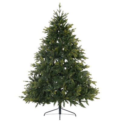 HOMCOM 7ft Artificial Christmas Tree Unlit with Metal Stand  2692 Tips Foldable Base Festival Decoration