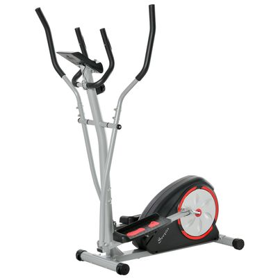Soozier Elliptical Trainer Magnetic Cardio Workout Exercise Bike Cross Trainer with 8 Level Resistance, LCD Digital Monitor, Pad Phone Holder, Great for Home Office Gym