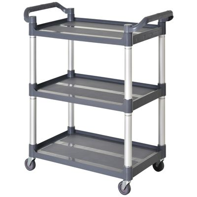 HOMCOM 3-Tier Rolling Storage Kitchen Trolley Wide Usage Serving Cart with 3 Shelves