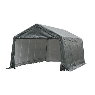 Outsunny Slant Leg Party Tent Temporary Portable Truck SUV Garage Cover - Grey- 20' x 12'