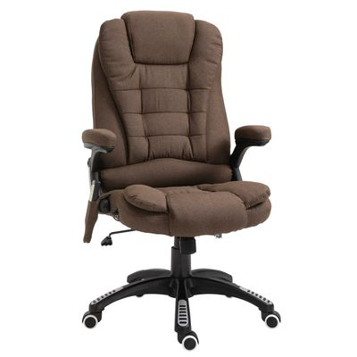 Vinsetto Executive Office Massage Chair Vibrating Ergonomic Computer Chair with High Back Brown
