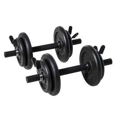 Soozier Dumbbells Set of 2 Adjustable Weight with Non-Slip Handle Portable Case Solid Steel 3lbs & 6lbs Pairs for Men and Woman Home Gym Office Black