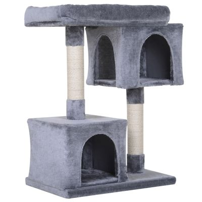 PawHut Multi-Level Cat Tree with Sisal-Covered Scratching Posts Large Perch