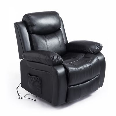 HOMCOM Deluxe Electronic Heated Massage Sofa Recliner Padded Lounge Armchair
