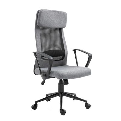 Vinsetto Breathable Office Chair Height Adjustable Swivel Chair With Tilt Function PU