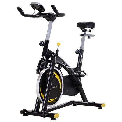 Soozier Upright Exercise Bike Belt Drive Home Gym Magnetic Resistance with LCD Monitor