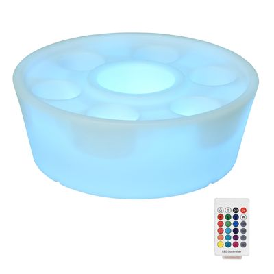 Outsunny Colorful Flash Light Up Atmosphere Party Decor Light Tableware for Party Bar