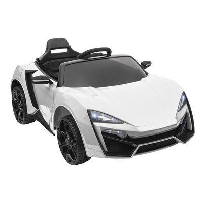 Aosom 6V Kids Ride In Cars With Parental Remote Control Kids Power Wheel Battery Operated Cars For 3 - 8 Years Old Kids White