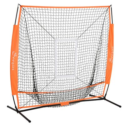 Soozier Baseball Net Softball Practice Hiting Pitching with Stand Frame For Kids & Adult