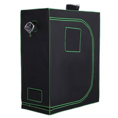Outsunny Hydroponic Plant Grow Tent Reflective Mylar Obeservation Window Indoor Floor
