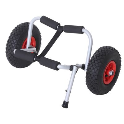 Soozier Rolling Kayak Cart Boat Canoe Carrier Tote Dolly Trolley Transport Cart Trailer Wheeled Cart