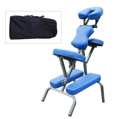 HOMCOM Portable Massage Chair Spa Beauty Relaxing Chair PU Leather w/ Carry Bag
