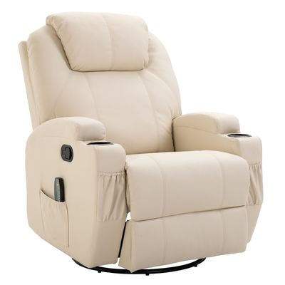 HOMCOM Massage Recliner Vibrating Recliner with Remote