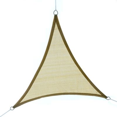 Outsunny Sun Shade Sail Triangle 16.4ft UV Top Outdoor Lawn Patio Shelter Canopy