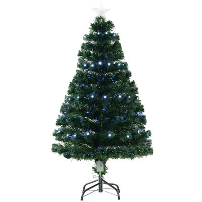 HOMCOM Artificial Prelit Optic LED Christmas Tree w/ Metal Stand