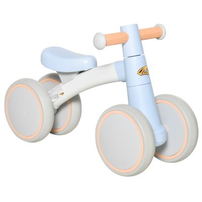 Qaba Baby Balance No Pedal Bicycle Walker Ride On Bike Quick Release Kids Toddlers Birthday Toy Gift for 1-3 Years Old Blue