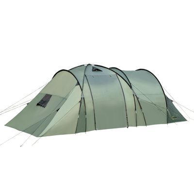 Outsunny Camping Family Tent 5-Person 2 Room with Carrying Bag Waterproof Rainfly Easy Set Up for Backpacking Hiking Outdoor 19' x 8.5' x 6.5'